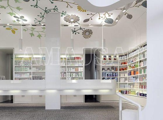 دکوراسیون داخلی داروخانه ای مدرن در آلمان