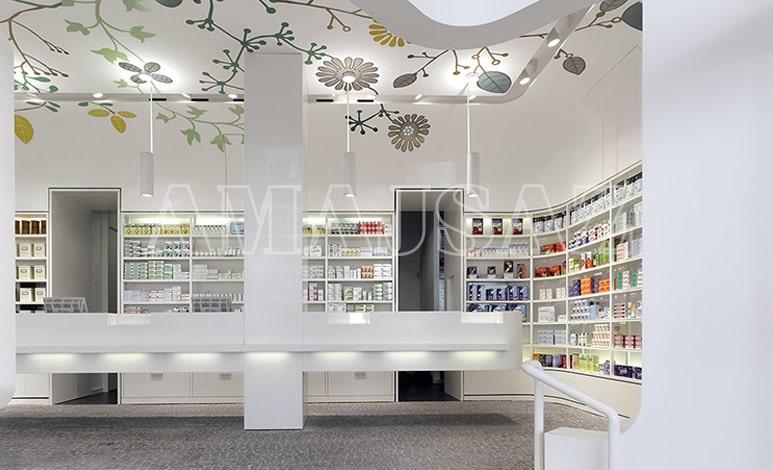 دکوراسیون داخلی داروخانه ای مدرن در آلمان - آماج ساز